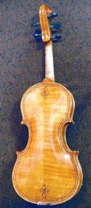 Oliver Five-string fiddle, back view.